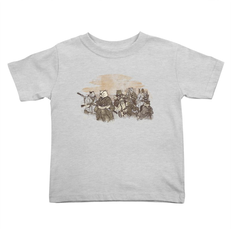 Seven Samurai Cat Kids Toddler T-Shirt by xiaobaosg