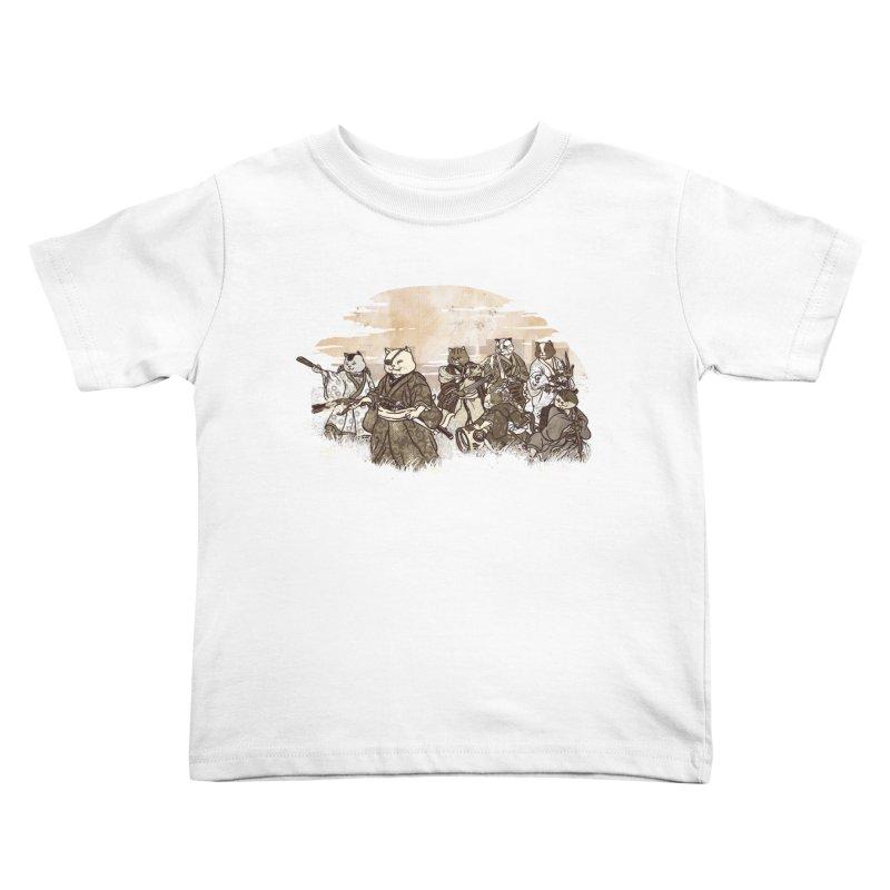 Seven Samurai Cat Kids Toddler T-Shirt by xiaobaosg