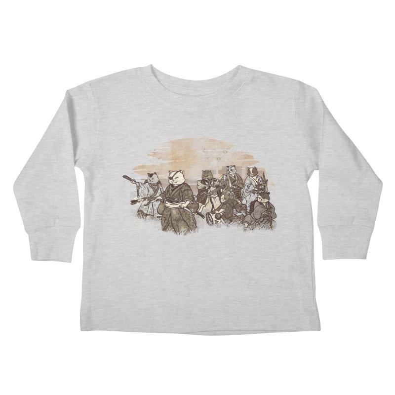 Seven Samurai Cat Kids Toddler Longsleeve T-Shirt by xiaobaosg