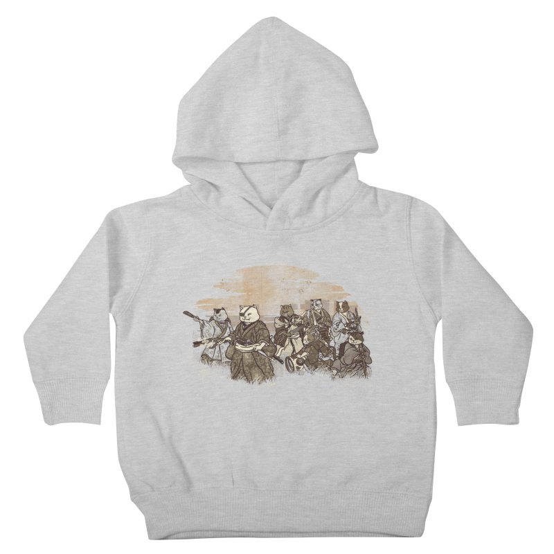 Seven Samurai Cat Kids Toddler Pullover Hoody by xiaobaosg