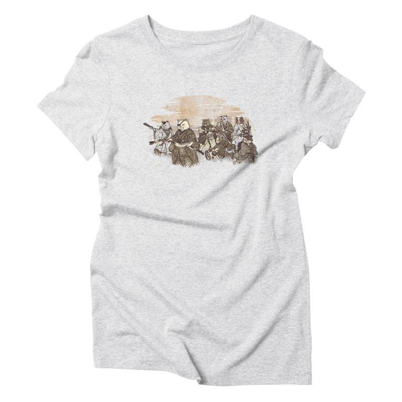 Seven Samurai Cat Women's Triblend T-Shirt by xiaobaosg