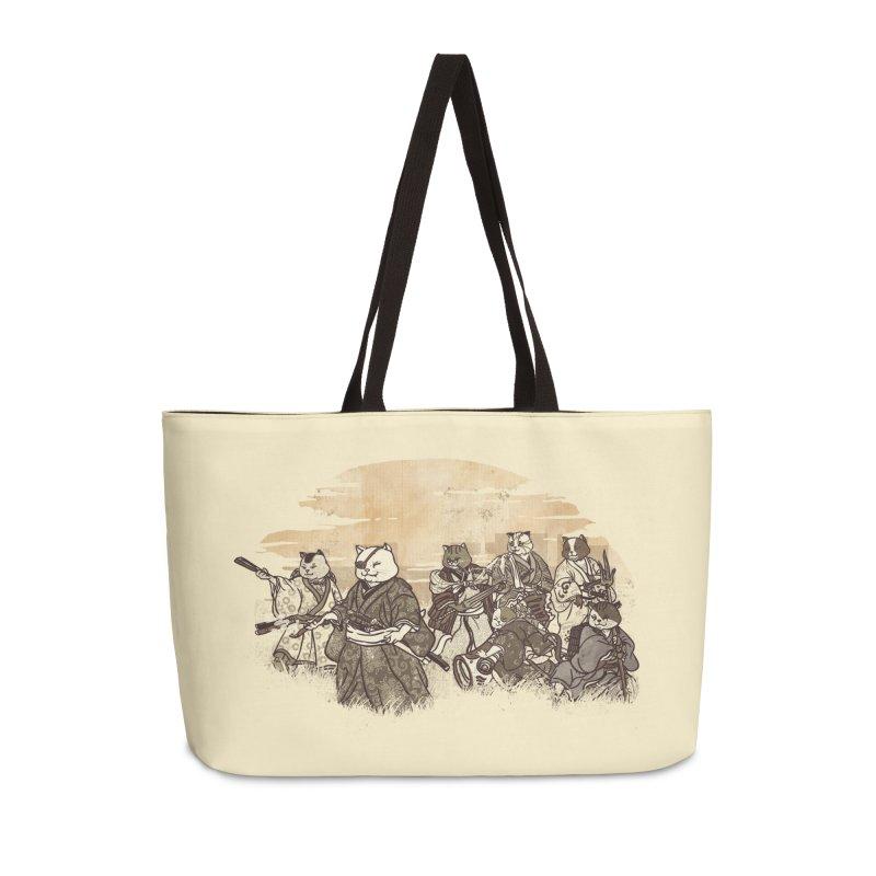 Seven Samurai Cat Accessories Weekender Bag Bag by xiaobaosg