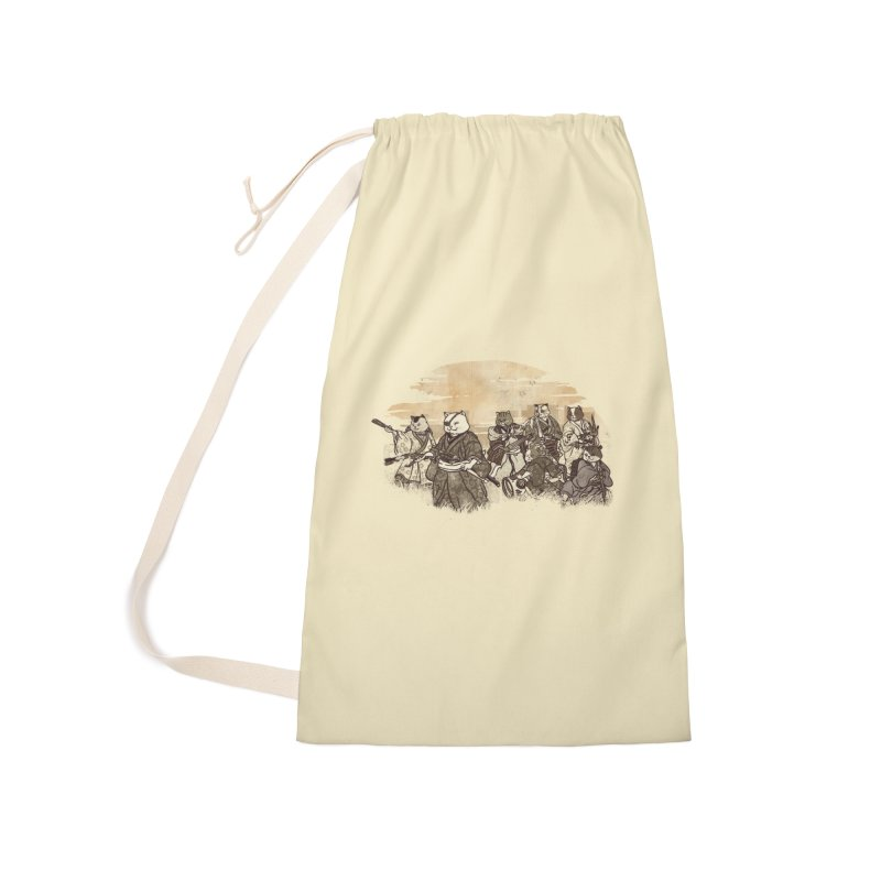 Seven Samurai Cat Accessories Laundry Bag Bag by xiaobaosg