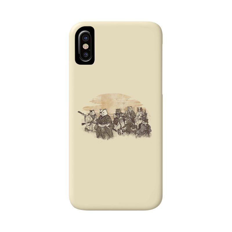 Seven Samurai Cat Accessories Phone Case by xiaobaosg