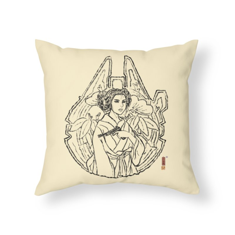 Princess Always Home Throw Pillow by xiaobaosg