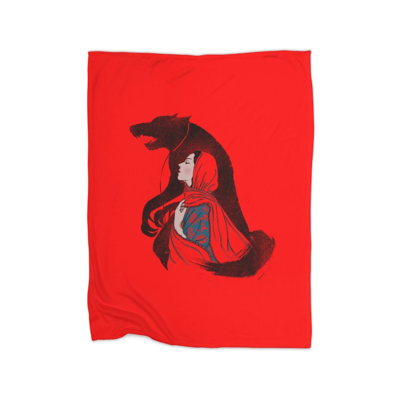 Taming of the Wolf Home Fleece Blanket Blanket by xiaobaosg
