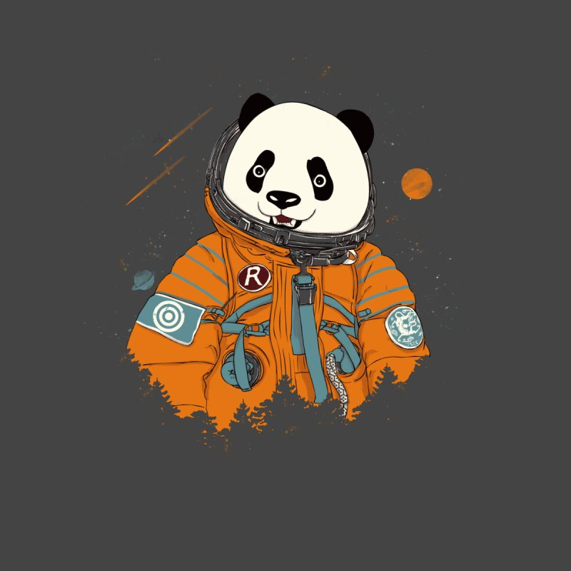 Pandastronaut Kids Toddler Zip-Up Hoody by xiaobaosg