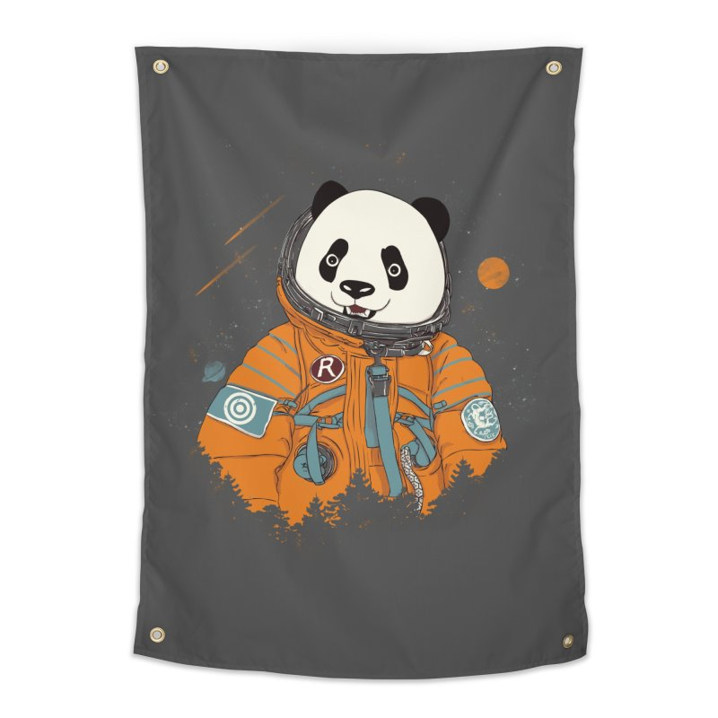 Pandastronaut Home Tapestry by xiaobaosg