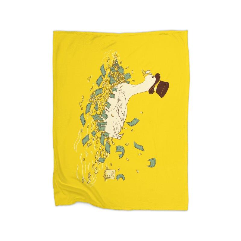 Money Swim Home Fleece Blanket Blanket by xiaobaosg