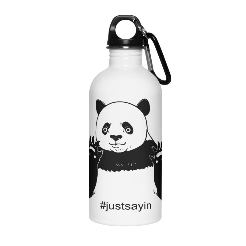 Just Saying Accessories Water Bottle by xiaobaosg