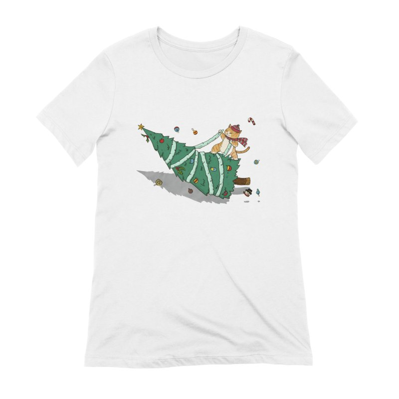 Xmas Tree Rider Women's Extra Soft T-Shirt by xiaobaosg