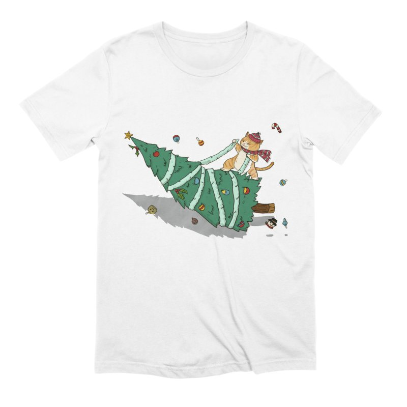 Xmas Tree Rider Men's Extra Soft T-Shirt by xiaobaosg