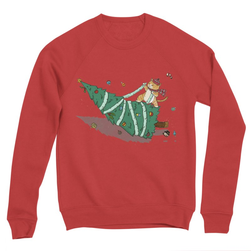 Xmas Tree Rider Women's Sponge Fleece Sweatshirt by xiaobaosg
