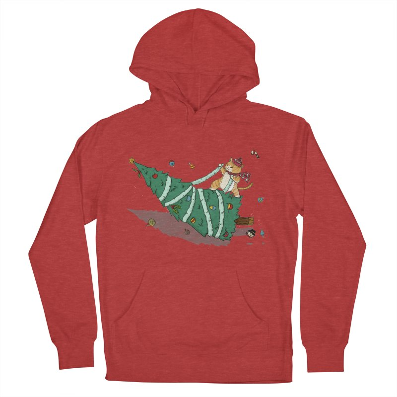 Xmas Tree Rider Women's French Terry Pullover Hoody by xiaobaosg