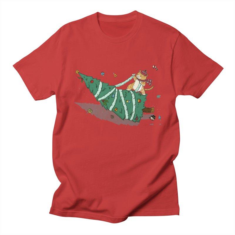 Xmas Tree Rider Women's Regular Unisex T-Shirt by xiaobaosg