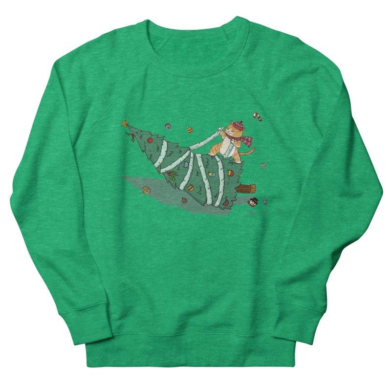 Xmas Tree Rider Women's French Terry Sweatshirt by xiaobaosg