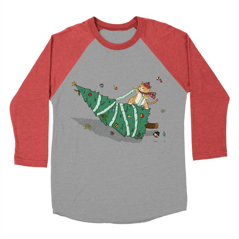 Xmas Tree Rider Men's Baseball Triblend Longsleeve T-Shirt by xiaobaosg