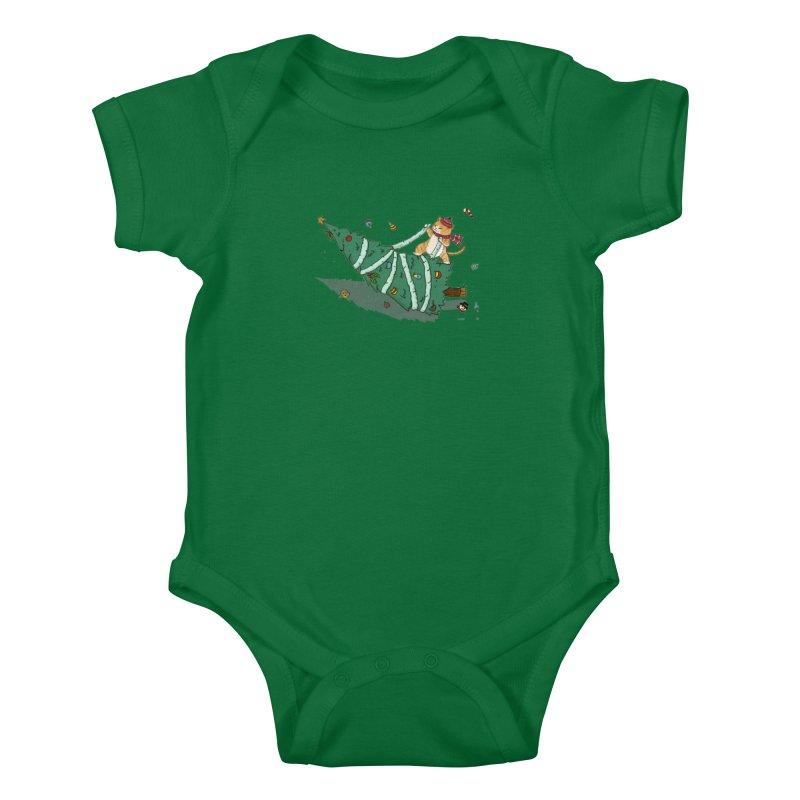 Xmas Tree Rider Kids Baby Bodysuit by xiaobaosg