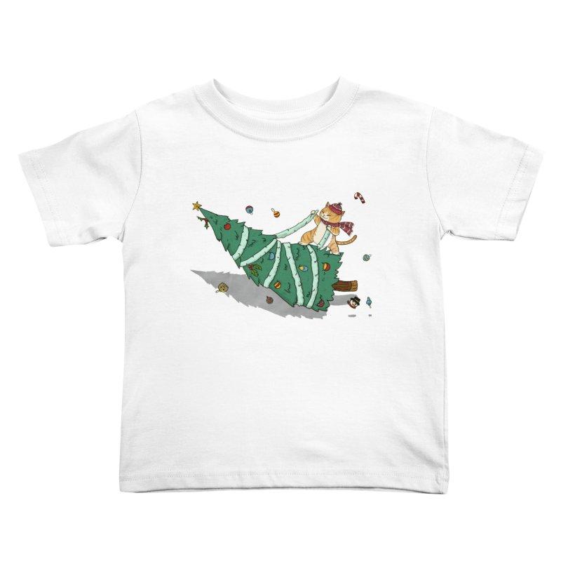 Xmas Tree Rider Kids Toddler T-Shirt by xiaobaosg