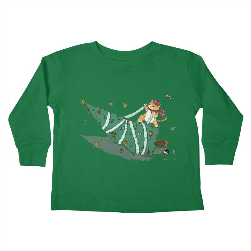 Xmas Tree Rider Kids Toddler Longsleeve T-Shirt by xiaobaosg