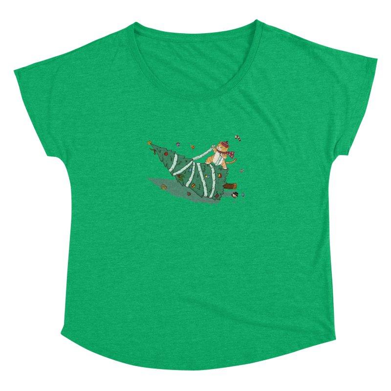 Xmas Tree Rider Women's Dolman Scoop Neck by xiaobaosg