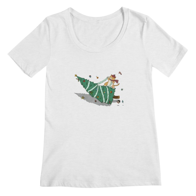 Xmas Tree Rider Women's Regular Scoop Neck by xiaobaosg