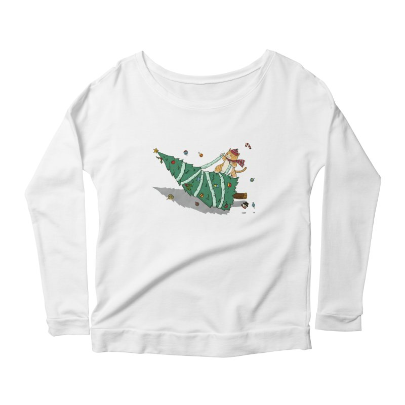 Xmas Tree Rider Women's Scoop Neck Longsleeve T-Shirt by xiaobaosg