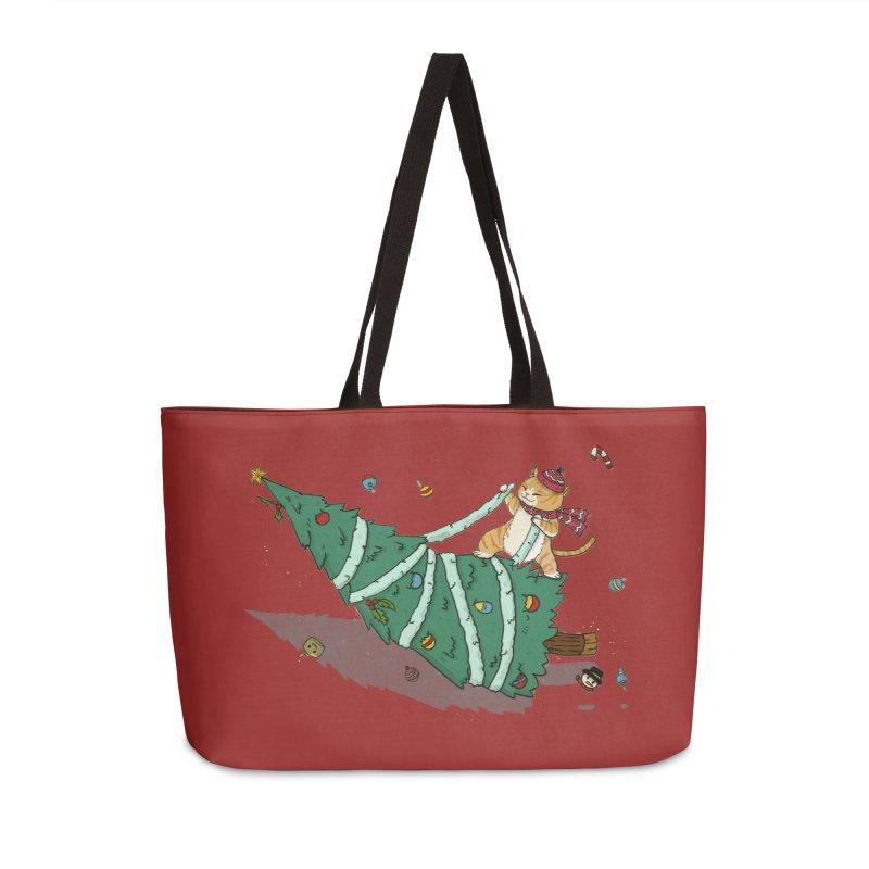Xmas Tree Rider Accessories Weekender Bag Bag by xiaobaosg