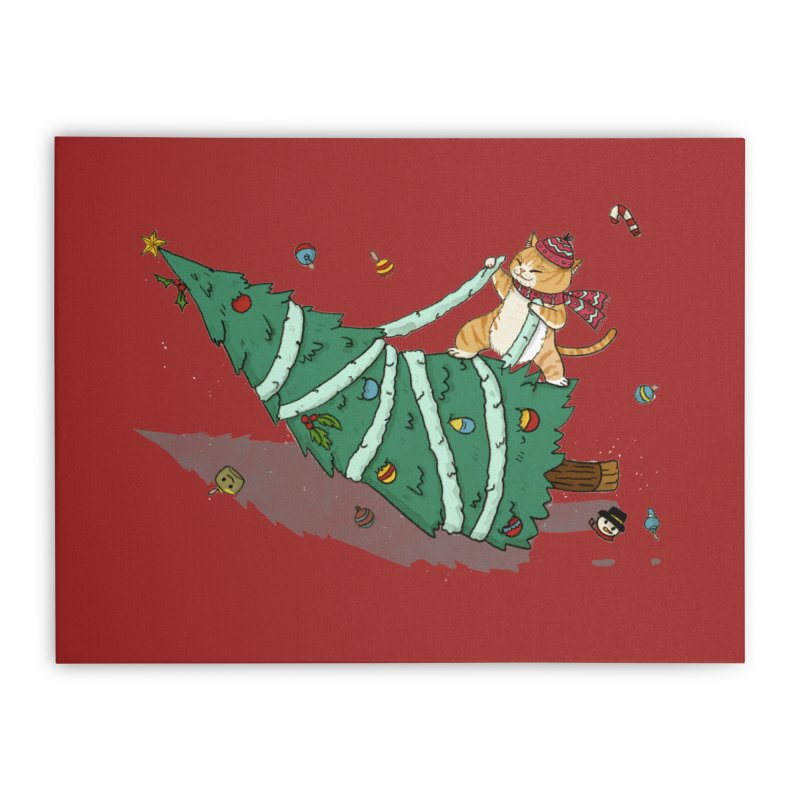 Xmas Tree Rider Home Stretched Canvas by xiaobaosg