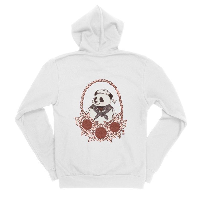 Panda Revolution EXTRA 2 D Men's Sponge Fleece Zip-Up Hoody by xiaobaosg