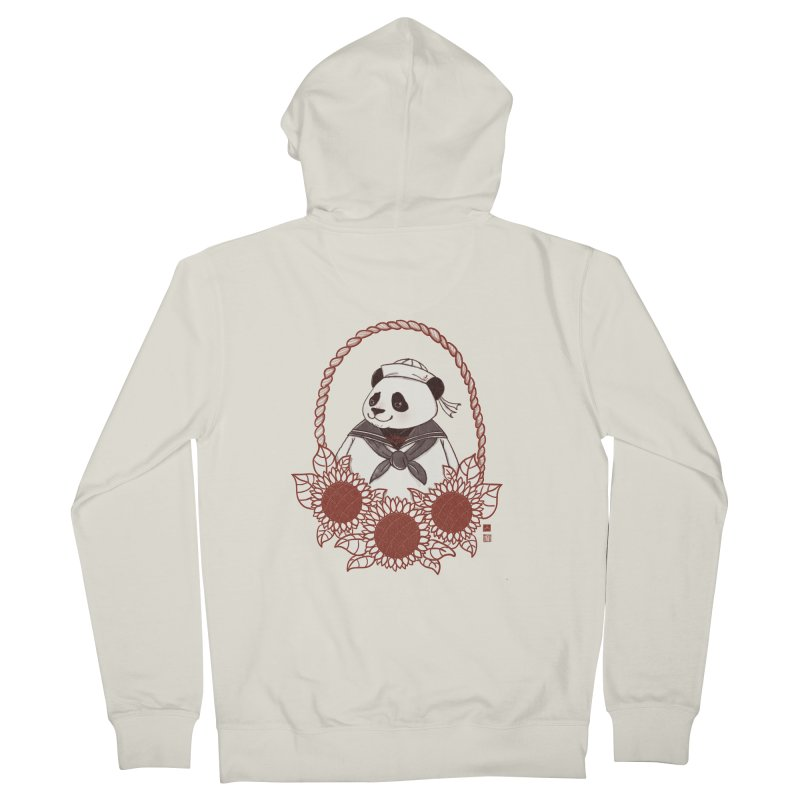 Panda Revolution EXTRA 2 D Men's French Terry Zip-Up Hoody by xiaobaosg