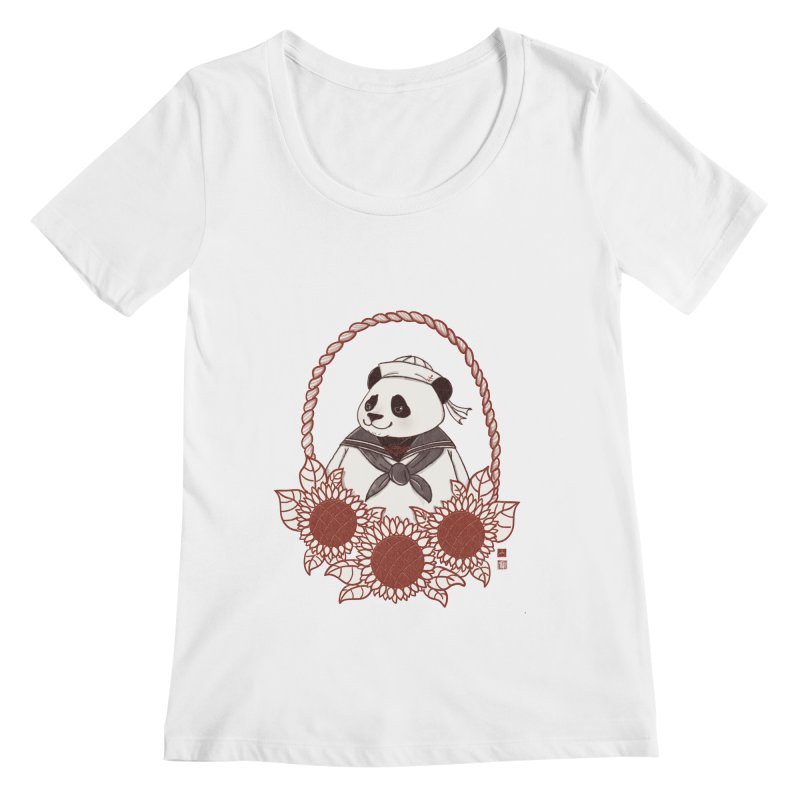 Panda Revolution EXTRA 2 D Women's Regular Scoop Neck by xiaobaosg