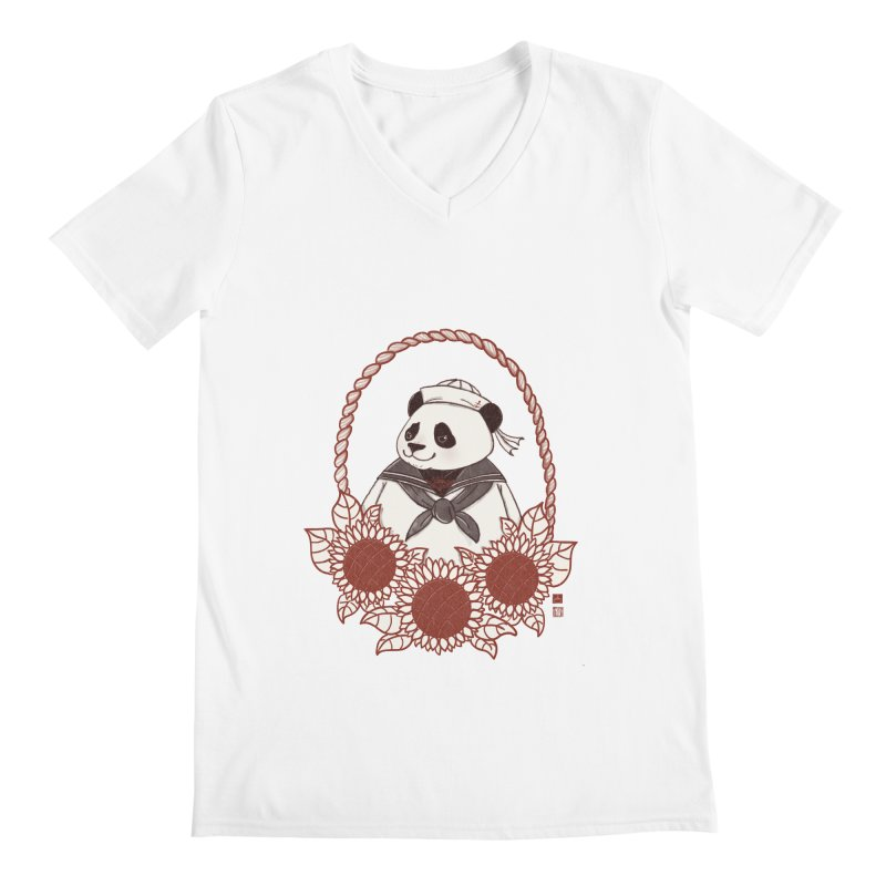 Panda Revolution EXTRA 2 D Men's Regular V-Neck by xiaobaosg