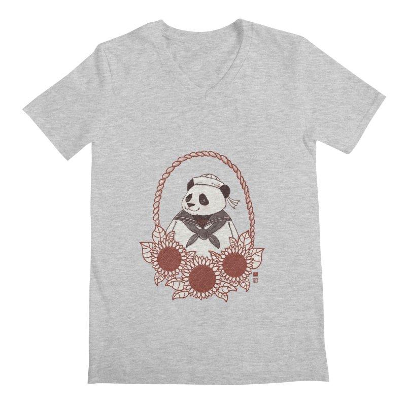Panda Revolution EXTRA 2 D Men's Regular V-Neck by xiaobaosg