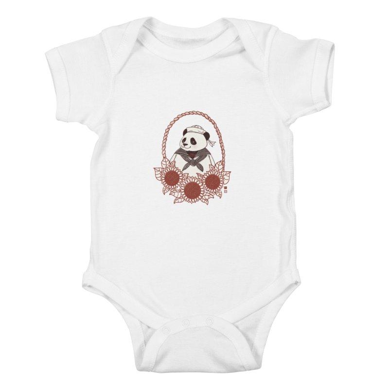Panda Revolution EXTRA 2 D Kids Baby Bodysuit by xiaobaosg