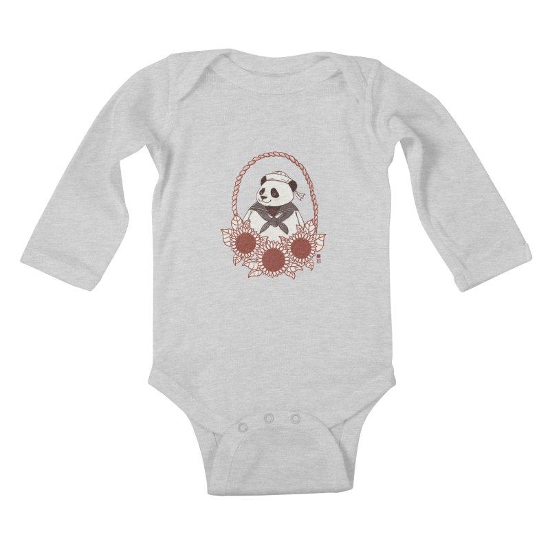 Panda Revolution EXTRA 2 D Kids Baby Longsleeve Bodysuit by xiaobaosg
