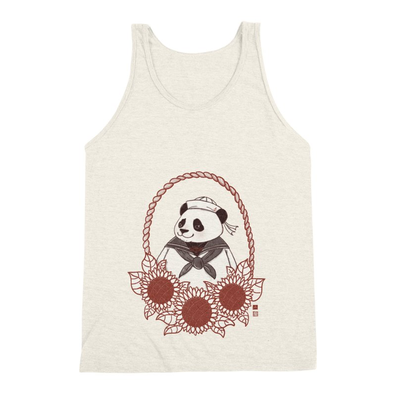 Panda Revolution EXTRA 2 D Men's Triblend Tank by xiaobaosg
