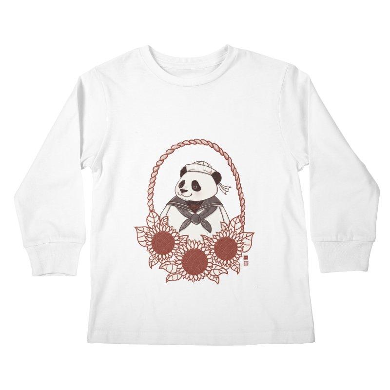 Panda Revolution EXTRA 2 D Kids Longsleeve T-Shirt by xiaobaosg