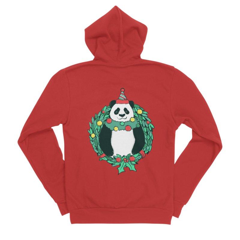 Beary Christmas Men's Sponge Fleece Zip-Up Hoody by xiaobaosg