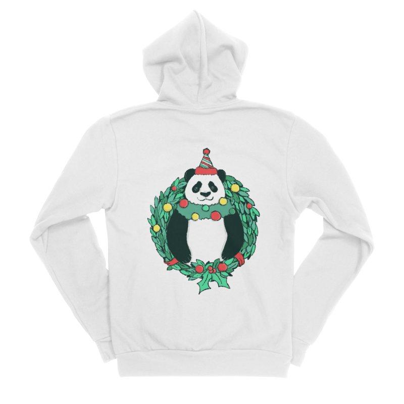 Beary Christmas Women's Sponge Fleece Zip-Up Hoody by xiaobaosg