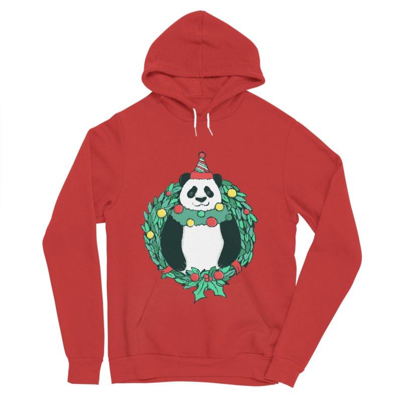 Beary Christmas Men's Sponge Fleece Pullover Hoody by xiaobaosg