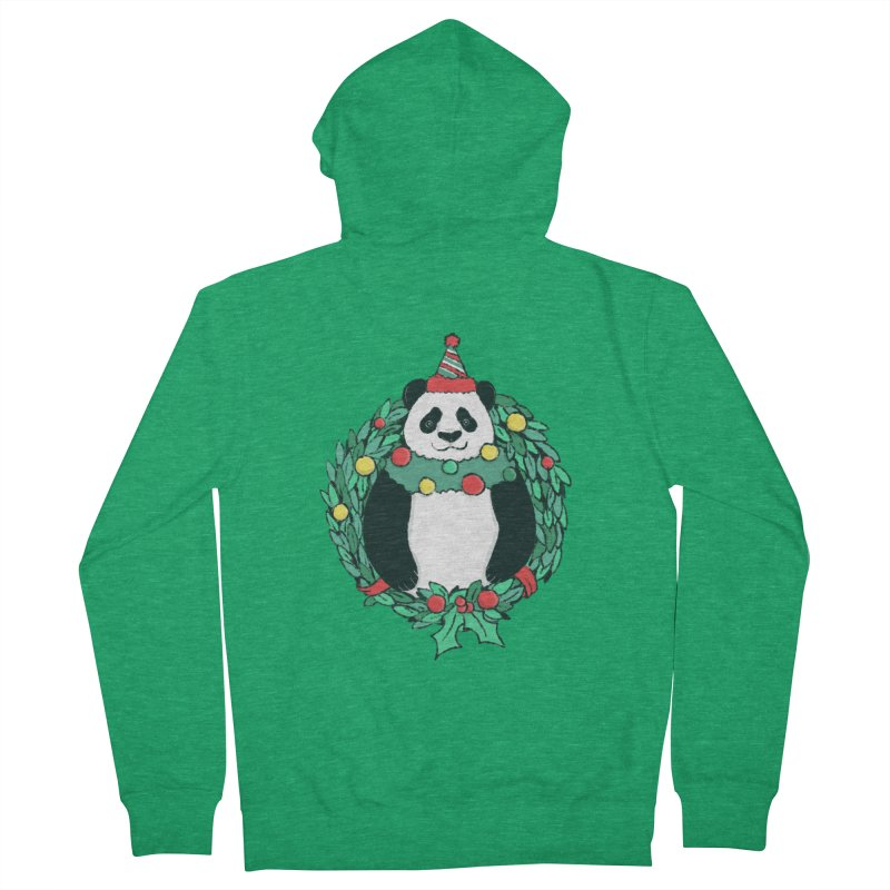 Beary Christmas Women's French Terry Zip-Up Hoody by xiaobaosg
