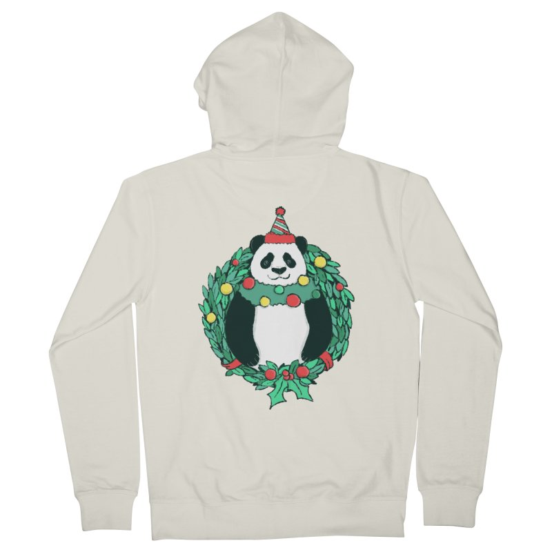 Beary Christmas Men's French Terry Zip-Up Hoody by xiaobaosg