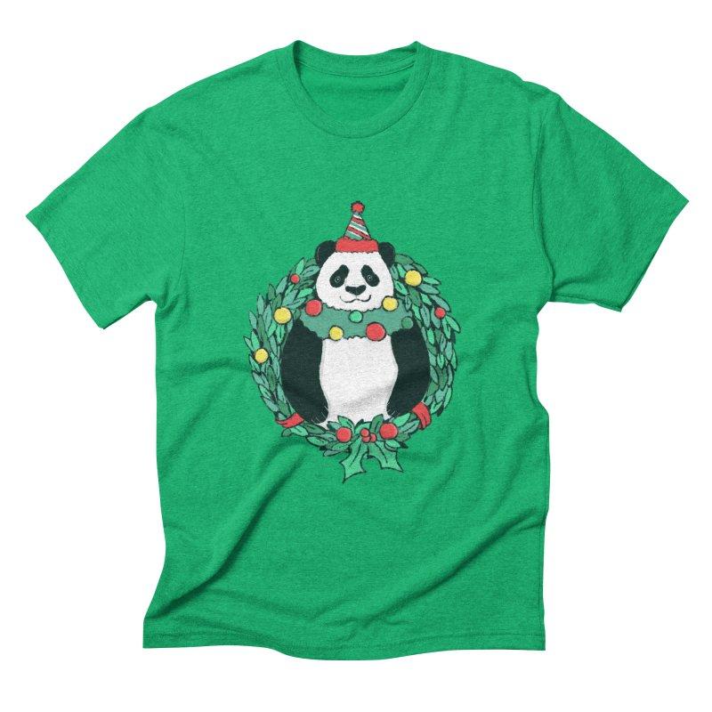 Beary Christmas Men's Triblend T-Shirt by xiaobaosg