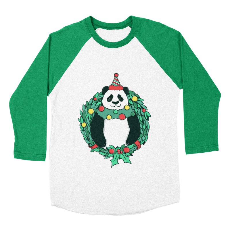 Beary Christmas Women's Baseball Triblend Longsleeve T-Shirt by xiaobaosg