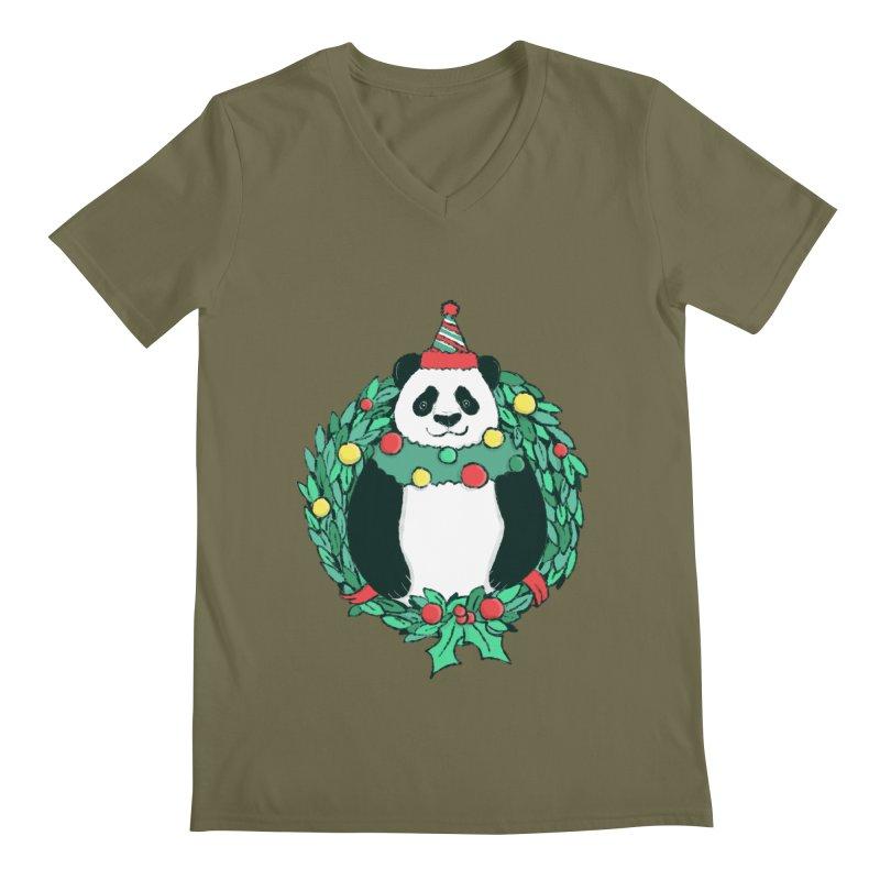 Beary Christmas Men's Regular V-Neck by xiaobaosg