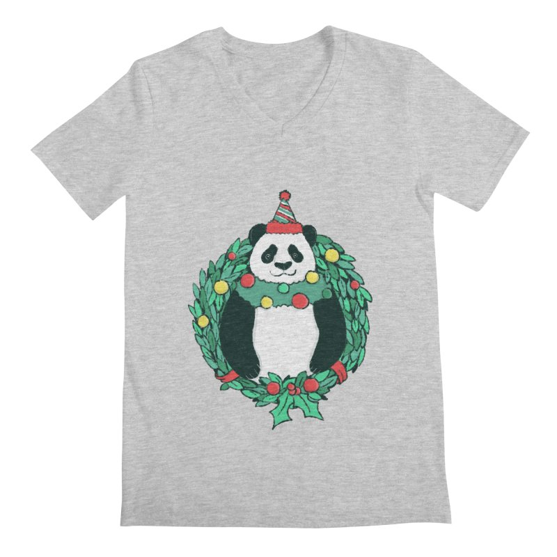 Beary Christmas Men's Regular V-Neck by xiaobaosg
