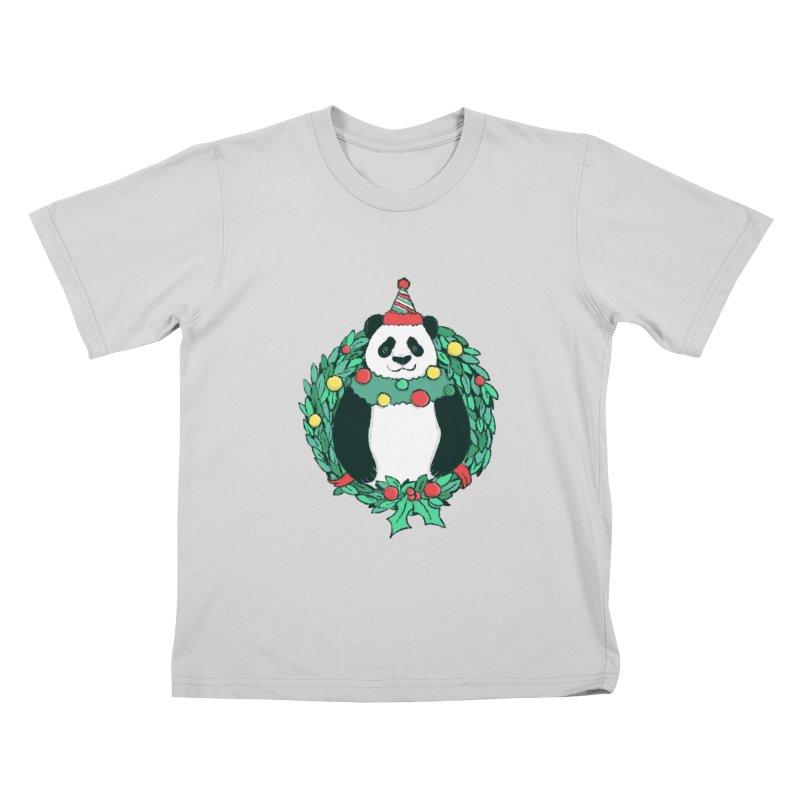 Beary Christmas Kids T-Shirt by xiaobaosg