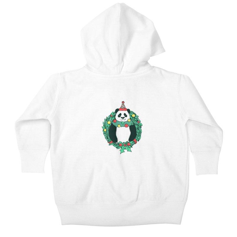 Beary Christmas Kids Baby Zip-Up Hoody by xiaobaosg