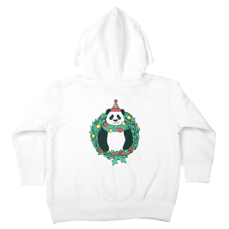 Beary Christmas Kids Toddler Zip-Up Hoody by xiaobaosg